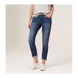loft • relaxed skinny / medium wash jeans